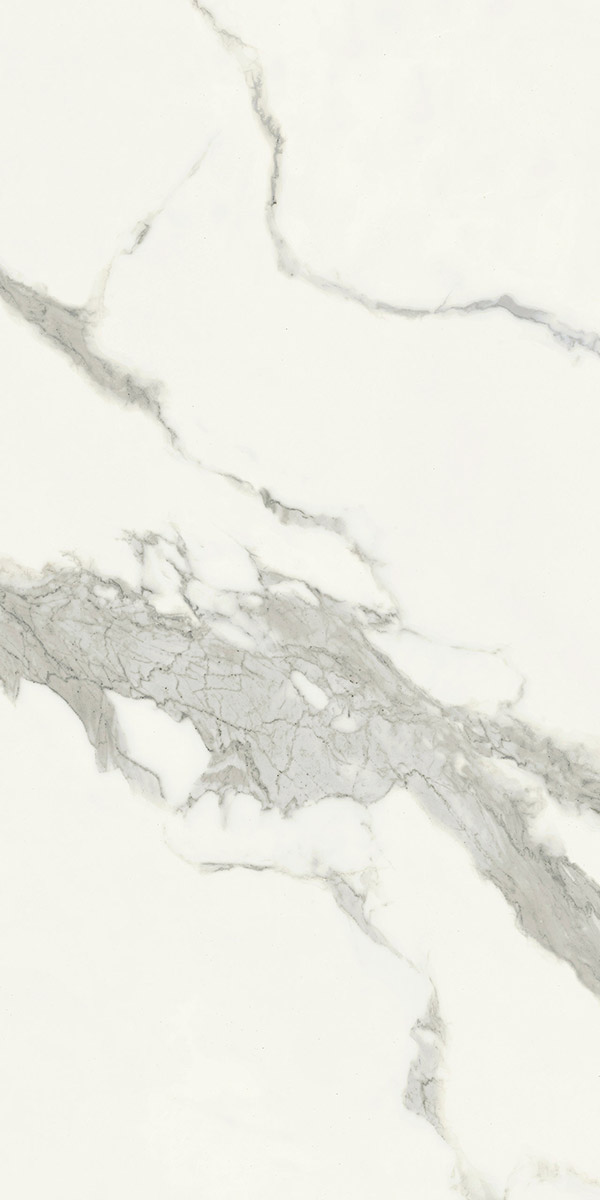 Designer calacatta Satin Effet Marbre Porcelaine Tile-Échantillon Taille 100x150 mm